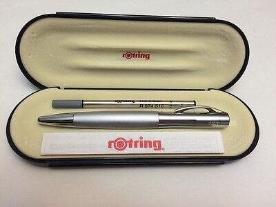 Rotring Initial Rollerball Silver 48681 Vintage New In Box Collectible