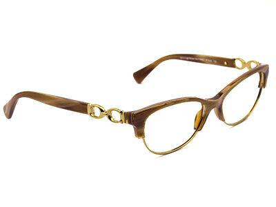 5a55feb14fa09 Coach Eyeglasses HC 5063 Kitty 5272 Light Brown Horn Gold Frame 51  16 135