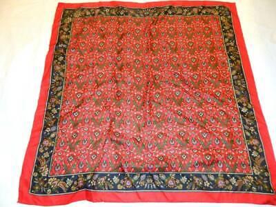 Vintage Scarf Styles -1920s to 1960s Vintage Talbots Scarf 100% Silk 30