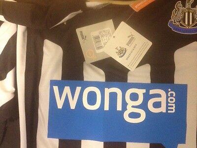 Newcastle United NEW LARGE 2014/15 Home SHORT SLEEVED  Shirt B.N.W.T Puma Mens