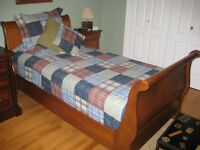 Single Sleigh Bed including Mattress