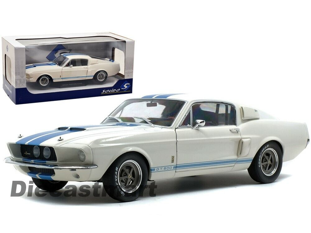 Ford Shelby Mustang 2010 Gt500 GT 500 Hellblau Weisse Streifen 1//18 Shelby Colle