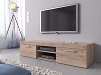 Designer TV Unit Cabinet Stand 140 cm sonoma