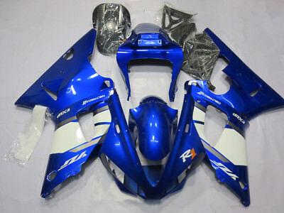 Blue White Fairing Kit for Yamaha YZF R1 YZ- R1 2000 2001 ABS Plastic Body Set