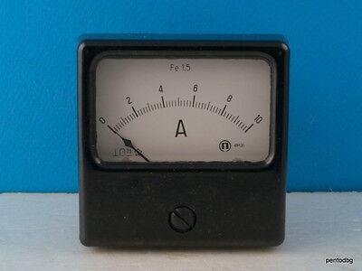 Analog Panel Amper Meter With Shunt Dc 0-10a 2.5 4m31 Bulgaria Nos Rare