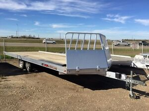 2016 Aluma Ltd. 8622 Flatdeck Snowmobile Trailer