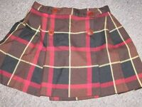 Wool/poly kiltie skirt