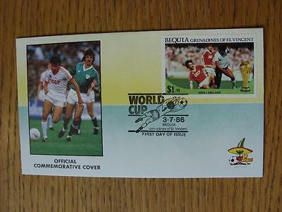 03/07/1986 World Cup Postal Cover: CC 1398 - Russia Player - Stamp: Russia v Eng
