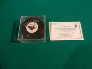 NHL Marion Gaborik Autographed Puck and Rookie Card with COA