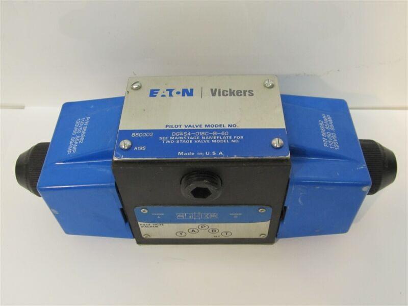Eaton/ Vickers DG4S4-018C-B-60 Pilot Valve Solenoid Directional Control Valve