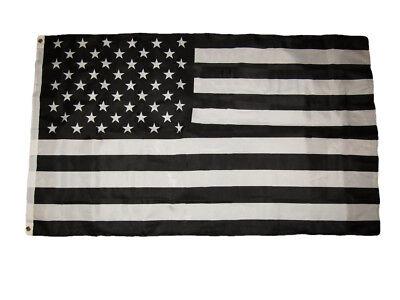 3x5 Black and White USA American Protest Anti Premium Quality Flag 3'x5' - Black And White Flag