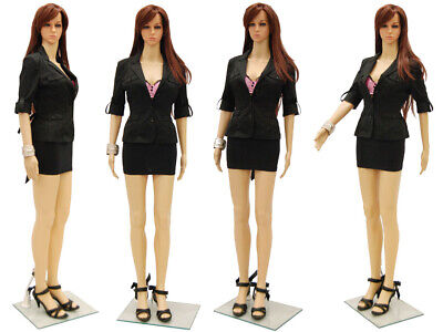 Adult Ladies Plastic Full Body Mannequin With Realistic Turnable Head And Base