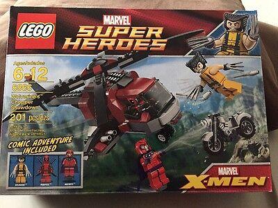 LEGO (6866) Marvel Super Heroes: Wolverine's Chopper Showdown set. Deadpool! NIB