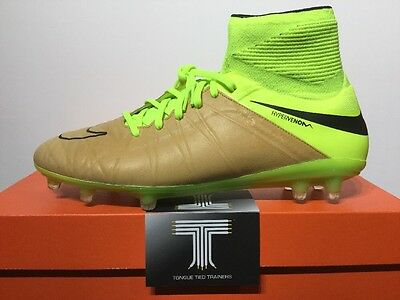 Nike Hypervenom Phantom II Leather FG Sockboot ~ 747501 707 ~ Uk Size 8