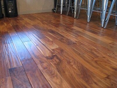 "5""  Acacia Walnut Handscraped Hardwood Wood Flooring Floor Bite"