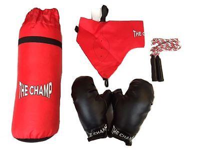 Neu Chad Valley The Champ 'Kinder 5 Stück Boxhandschuhe Spielset Boxsack 3 Jahre (Boxhandschuhe Spielen)