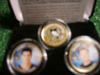 Colourized Crosby/Lemieux 3pc. Coin Set