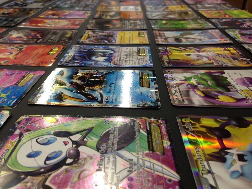 Pokemon Card Lot 100 OFFICIAL TCG Cards Ultra Rare Included - GX EX MEGA + HOLOS 7