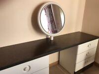 Genuine vintage 1970's dresser with mirror