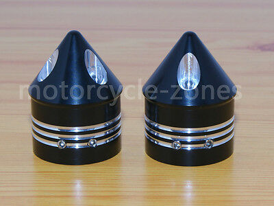 Black Front Axle Cap Nut Covers Bolt Kit For Harley Touring Road Glide King new