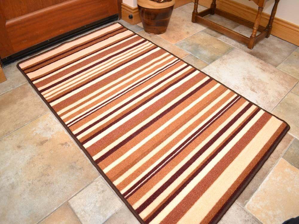 Washable Dark Light Brown Beige Long Runners Kitchen Floor
