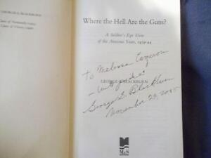SIGNED BOOK WHERE THE HELL ARE THE GUNS GEORGE BLACKBURN Cornwall Ontario image 2