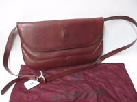 Vintage Ladies Must de Cartier red leather handbag