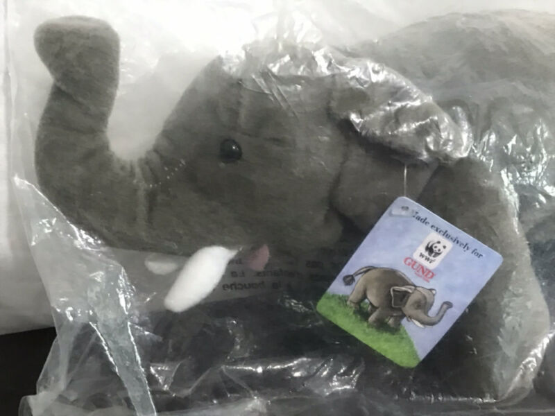 WWF World Wildlife Fund by GUND Plush ~ ASIAN ELEPHANT ~ #44769 ~ NEW IN BAG!