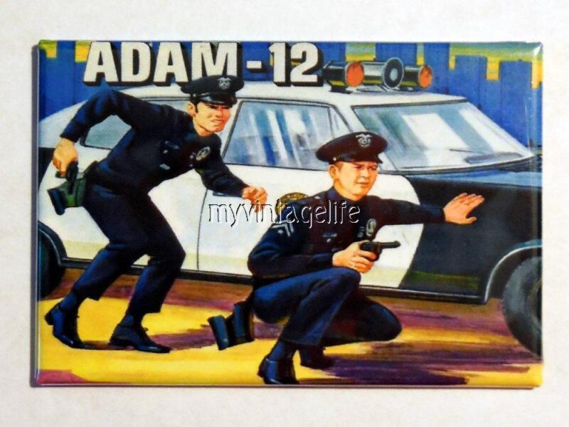 "Vintage Adam-12 TV show Lunchbox 2"" x 3"" Fridge MAGNET"