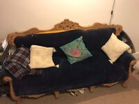 gorgeous antique carved sofa - upholstery project