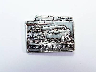 Anstecker Tag des Eisenbahners 1957 DDR Eisenbahn