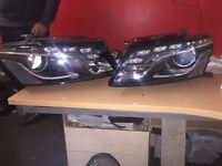 Audi Q5 09 To 2012 DRL Xenon headlights Complete Inc Bulbs & Packs Breaking