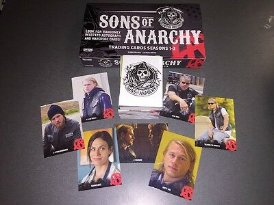 Sons Of Anarchy Trading Cards Seasons 1 3 Complete 100 Card Base Set Brand New