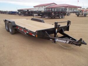 2015 Diamond C 18EEQ Flatdeck Car Hauler Trailer