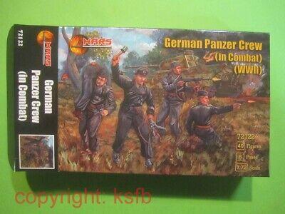 NEU 1:72 Mars # 72122 WKII Deutsche Panzer Besatzung im Kampf German Tank Crew