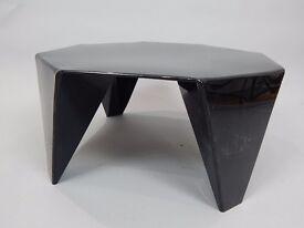 DESIGNER ISAMU NOGUCHI RETRO VINTAGE 1970,S PRISMATIC ORIGAMI BLACK KNOLL COFFEE TABLE