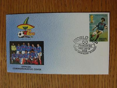 07/05/1986 World Cup Postal Cover: CC 1452 - France Team - Stamp: France Player