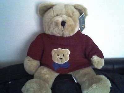 NEW GOLDEN TEDDY BEAR WEARING A JUMPER -  GOOD QUALITY - LAST ONE LEFT!