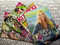 4 x Assorted knitting magazines - Knit Today, Rebecca & Knitting