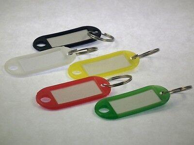 Schlüsselschilder mit Ring zum Beschriften 5 Stück – Schlüsselanhänger