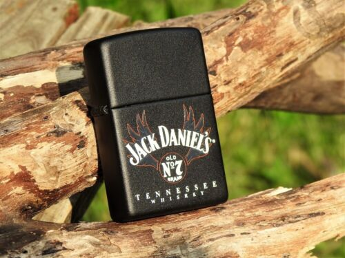 Zippo Lighter - Jack Daniels - Wing Logo - Old No. 7 -  Tennessee Whiskey