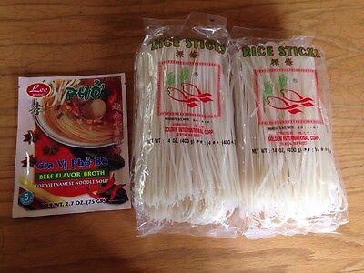 Vietnamese Pho Beef Noodle Soup Set(instant Beef Base Soup Powder & Rice - Noodle Soup Base