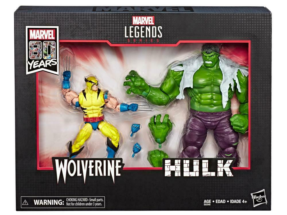 """HASBRO MARVEL LEGENDS 6/"""" 80TH ANNIVERSARY WOLVERINE 1ST APP FIGURE FROM 2 PACK"""