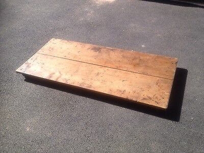 VTG OLD TIMBER+STEEL BESPOKE FURNITURE MOVERS TROLLEY INDUSTRIAL MINIMAL  22x48