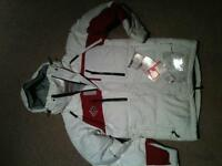 Brand new Red /White  Down jacket