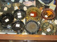 Several collectible ashtrays - Some vintage Vegas