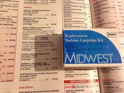 Midwest Tradition Turbine Cartridge Kit New In Box Handpiece Part