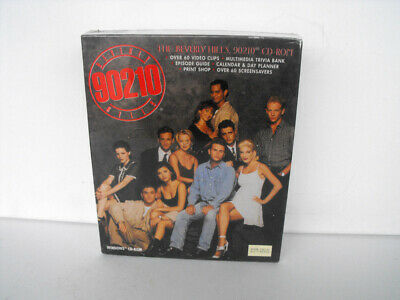 -  Rare Beverly Hills 90210 CD-ROM box clips calendar print shop screensavers MINT