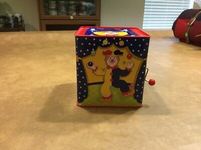 Vintage Schylling 1997 Jack in the Box Pop-up Clown/ Jester Musical Wind-up Toy - Jack In The Box Jester