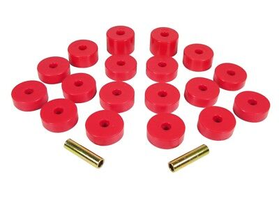 1974 1975 Jeep Cj5 Cj7 Body Mount Bushing Kit Red 18 Piece Kit Prothane 1 109